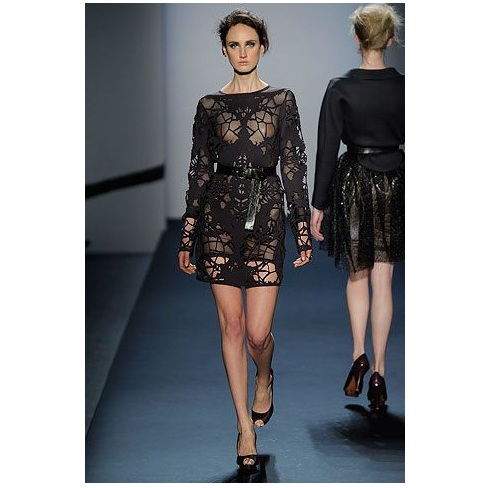 Laser Cut Dress Michael Angel