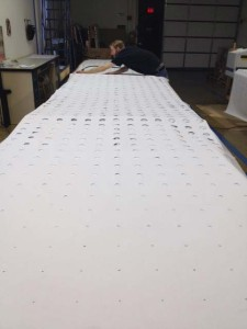 laser cutting large panels
