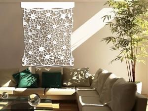 Laser cut Tyvek floral panel